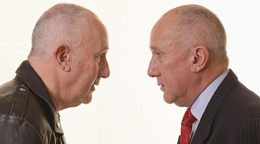 Two Heads of Geoff Burch