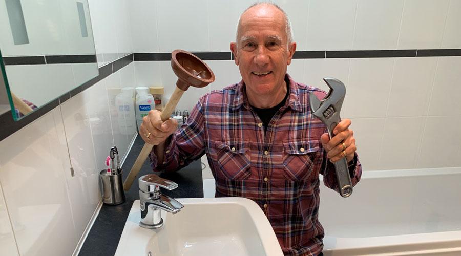 Plumbing in the bathroom