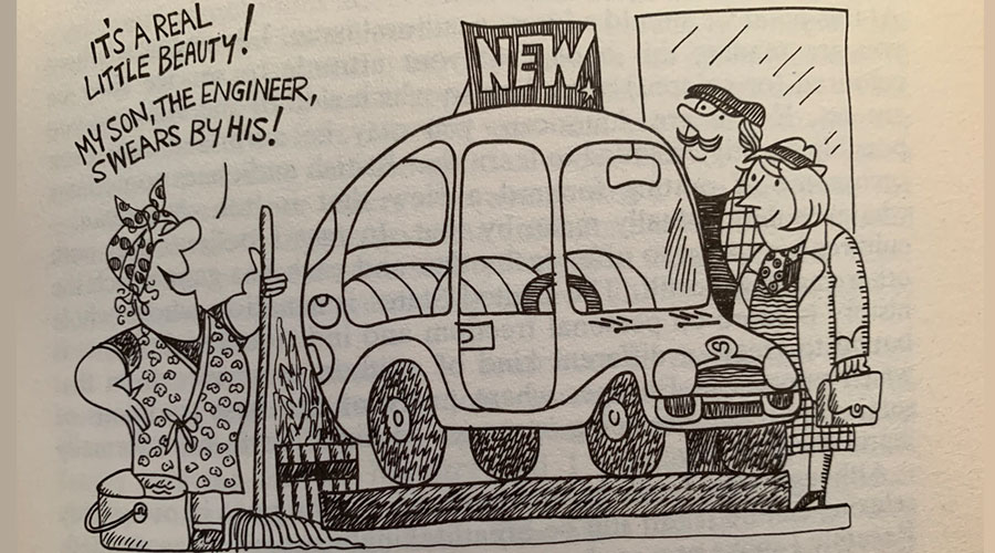 cartoon car salesman